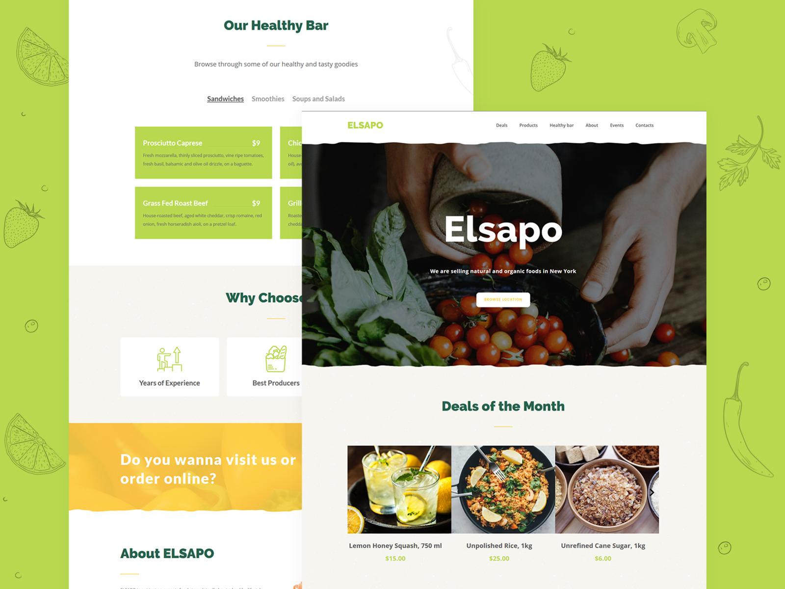 Organic Food Supply Website Template By Weblium On Dribbble