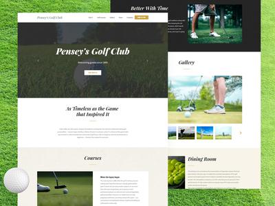 Golf Club Website Template