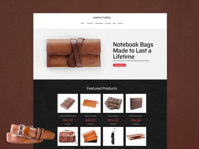 Leather Shop Website Template