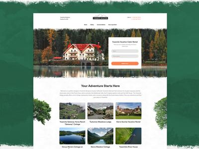 Cabin Rental Website Template