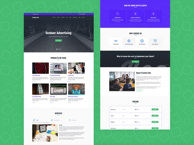Outdoor Advertising Website Template
