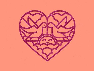 Happy Valentine´s Day! art flat texture retro vector design illustration logo design logo badge design badge logo love valentine day