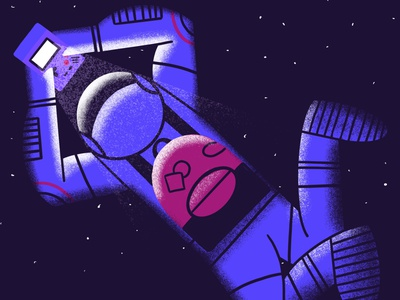 Retro Trip procreate flat illustration art flat texture retro design illustration gaming astronaut space art