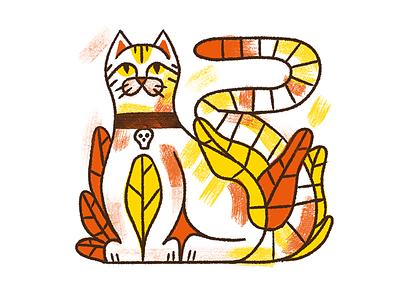 HAPPY CAT DAY pet nature art texture retro illustration procreate animals catday cat