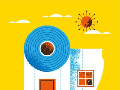 Be safe. Stay at home vectorart press illustration editorial illustration coronavirus flat illustration art flat texture vector design illustration