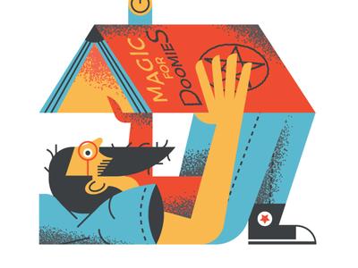 Happy world book day! doom magic press illustration spot illustration editorial flat illustration art flat texture vector design illustration book world book day