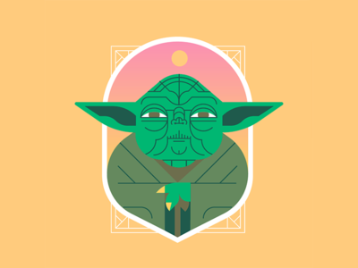May the 4th be with you!! graphic design flat illustration art flat retro vector design illustration star wars day starwars yoda