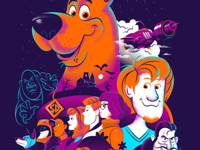 SCOOB! Movie Poster digital art graphic design art texture retro design illustration dccomics hanna barbera scooby doo vector alternative movie poster movie poster