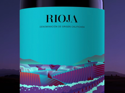 Rioja TV Spot gastronomy flat illustration art flat food landscape vector label wine label wine rioja