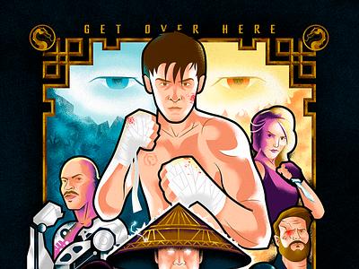 Mortal Kombat poster poster artwork poster art fatality alternative movie poster vector illustration movie poster poster mortal kombat