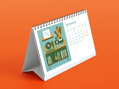 Turntables and Plants Calendar