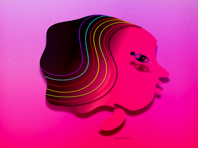 MultiColour Hair women empowerment illustration women in illustration icon women mindmooring