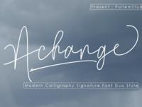 https://creativemarket.com/Polem/3666445-Achange-Font-Duo