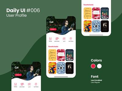 Daily UI #006 app daily ui 006 user profile figma daily ui challenge daily ui dailyui design