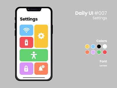 Daily UI #007 daily ui 007 settings ui design figma daily ui challenge dailyui daily ui
