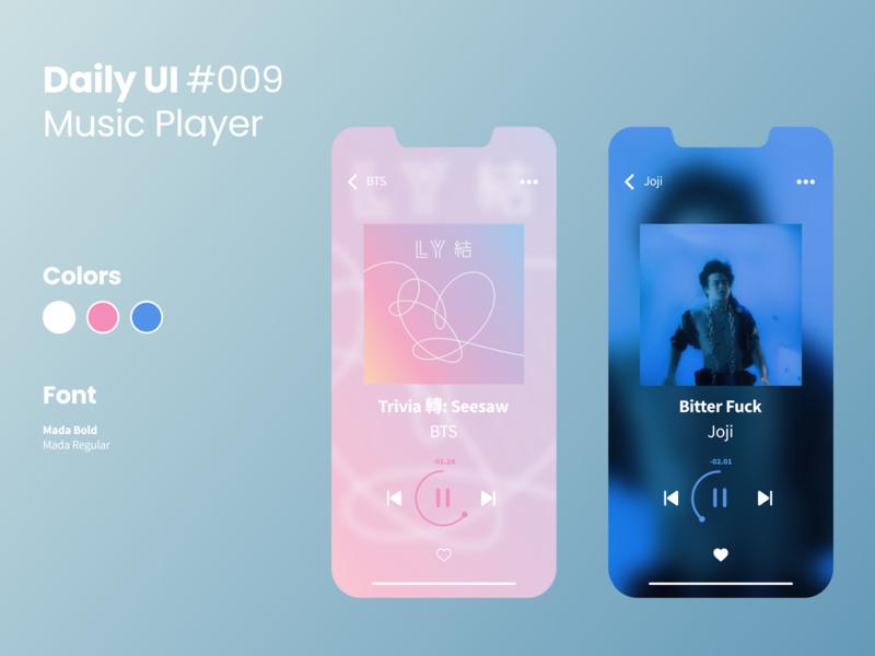 Daily UI #009 figma daily ui challenge 009 music player 009 vector ui design dailyuichallenge daily ui challenge dailyui daily ui