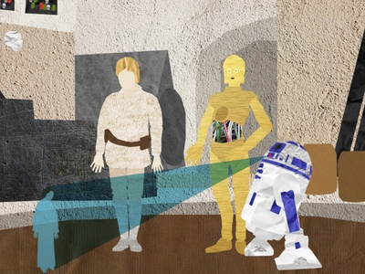 Star Wars . A New Hope Collage after effects photoshop star wars illustration collage animation motion graphics