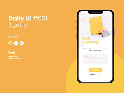 Daily UI #001 figma sign up daily ui daily ui 001 ui design daily ui challenge dailyui