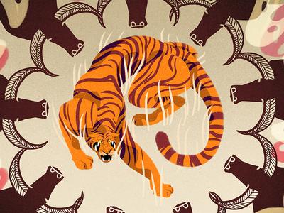 Shere Kahn digital illustration photoshop iris van den akker illustration tiger jungle book shere kahn