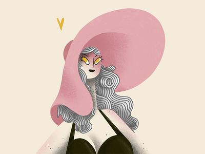 Olga digital illustration procreate illustration girl portrait iris van den akker olga