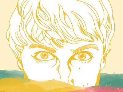 Tom Rosenthal procreate digital illustration portrait music design poster music poster illustration art iris van den akker tom rosenthal