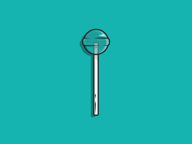 Tiffany Lollipop |BNZ| tiffany blue tiffany candy lollipop indesign illustrator design vector minimal illustration icon dribbble colour adobe