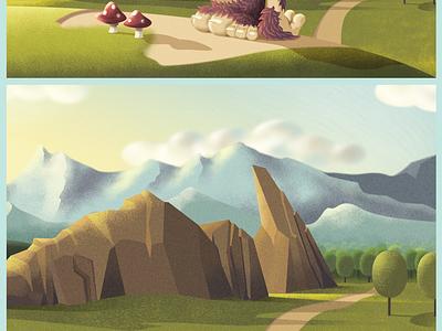 Confused Ogrrr illustration ogrrr grrr grrrr noise landscape