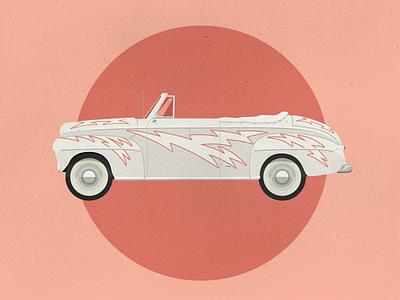 The Lightning big screen machine bsm tv movie lightning pink illustration car grease