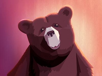Bear noise texture lighting bear