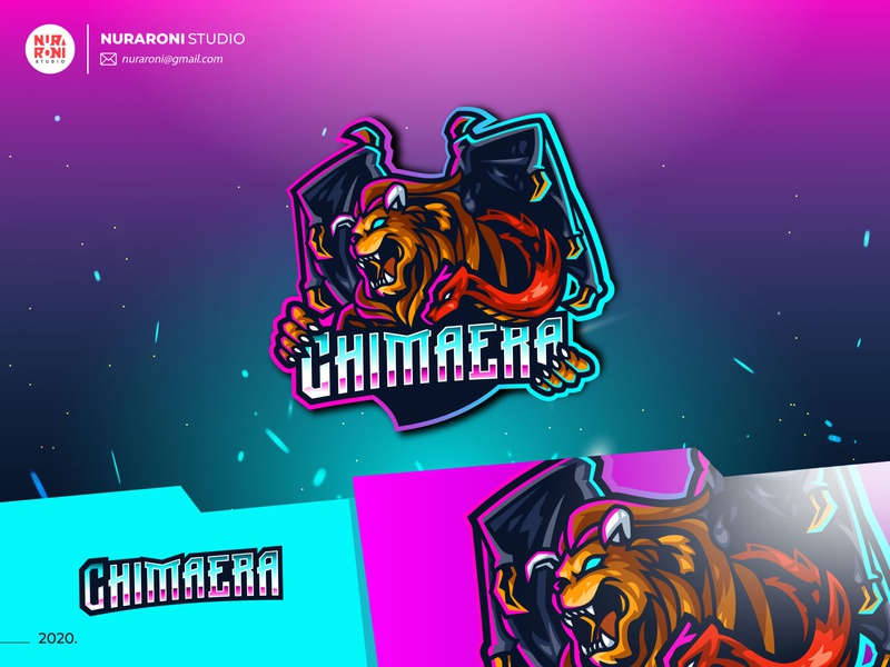 Chimaera Mascot Logo esports mascot design mascotlogo mascot youtube gaming gaminglogo gaming games esportlogo esport character design adobe illustrator vector logo illustration cartoon character design character cartoon artwork