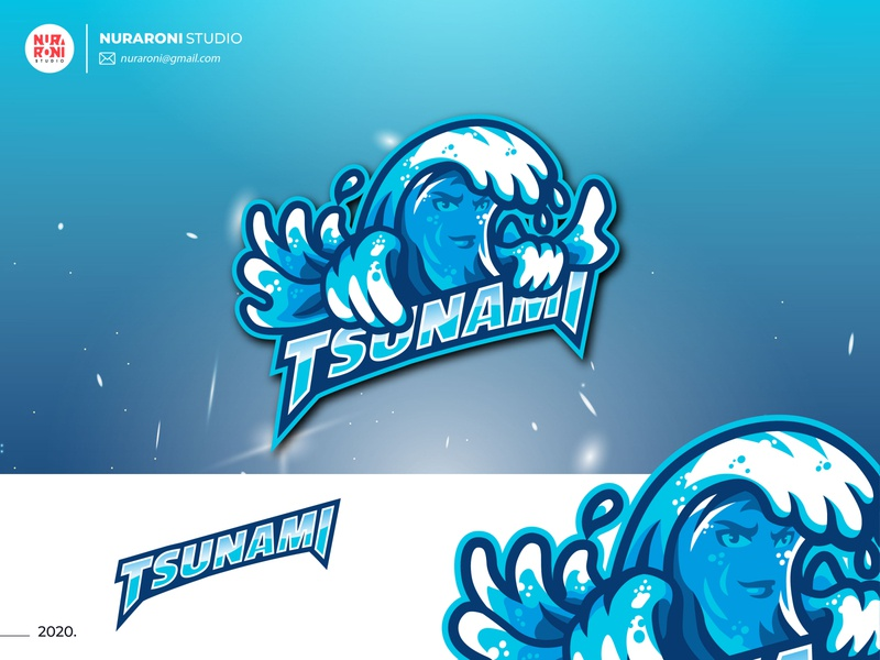 Tsunami Mascot Logo games logo design esport logo youtube game online gaming esportlogo esport mascotlogo mascot adobe illustrator digital art cartoon character vector logo illustration design character cartoon artwork