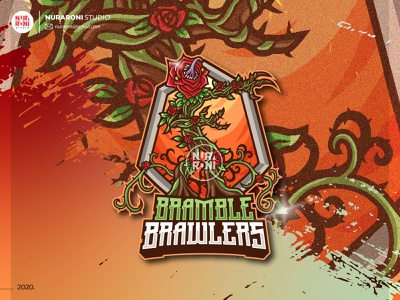 Bramble Brawlers Mascot Logo esports logo logo intro logo inspirations youtube twitch twitch logo game logo logo design mascotlogo mascot esport esportlogo design cartoon character artwork vector logo illustration character cartoon