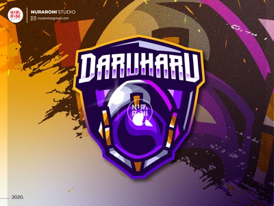 DARUHARU Mascot Logo mascot design logo maker logo inspirations youtube twitch logo twitch game logo game gaming mascotlogo esports mascot esports logo esport esports illustration cartoon character vector logo character cartoon