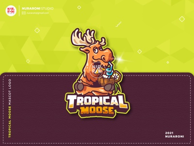 Tropical Moose Mascot Logo logo maker logo ideas deer logo game online gamers twitch logo twitch mascot design mascotlogo youtube illustration gaming esportlogo mascot esport cartoon character character vector logo cartoon