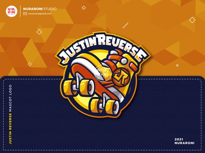 Justin Reverse Mascot Logo logo maker game online gamers twitch logo twitch streamers youtube banner esport logo esport team youtube illustration gaming esportlogo mascot esport cartoon character character vector logo cartoon