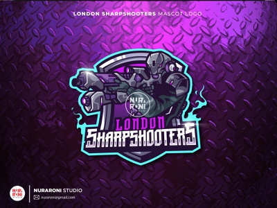 LONDON SHARPSHOOTERS MASCOT LOGO mascot logo esport logo streamer gamers youtube vtube gaming twitch illustration design mascot esport cartoon character character logo vector cartoon