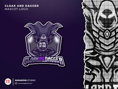 CLOAK AND DAGGER MASCOT LOGO gamers gaming streamer youtube twitch mascot logo esport logo illustration design mascot esport cartoon character logo character vector cartoon