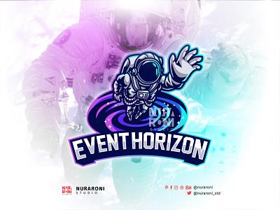 Event Horizon - Astronaut Mascot Logo Design galaxy blackhole space mascot logo astronaut streamer esport logo branding gaming logo streaming gaming twitch illustration design mascot esport character vector logo cartoon