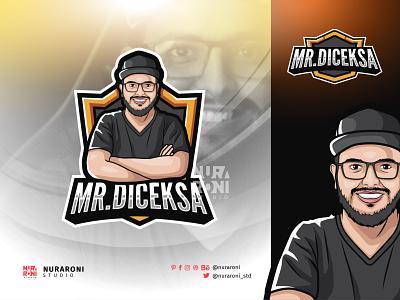 Mr. Diceksa Mascot Logo Design cartoon character figure branding illustration motion graphics graphic design 3d animation ui design mascot esport character vector logo cartoon