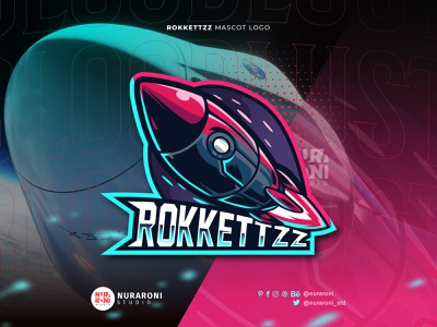 Rocket Mascot logo 🚀🚀 branding motion graphics graphic design animation ui illustration design mascot esport character logo vector cartoon starship planet jet astronaut missile space rocket