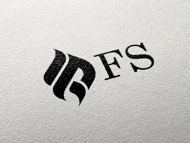 FS logo design icon vector