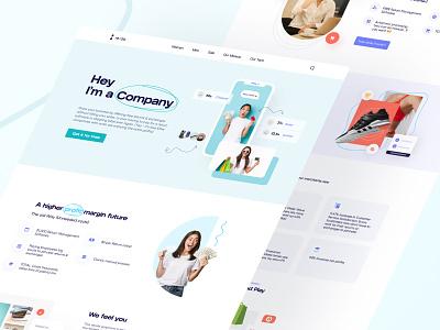 Redo Website Landing Page ecommerce corporate company landing clothes illustration website web ui ux design