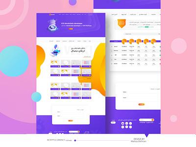 IRCryptocurrency Web Design art ios website mobile branding logo minimal illustrator vector web app ui ux illustration icon design