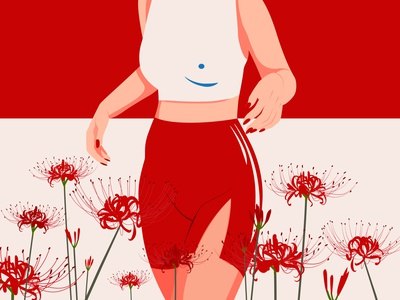 RED nina aubersek graphic artist floral art vector artwork colorful flowers vector illustration illustration