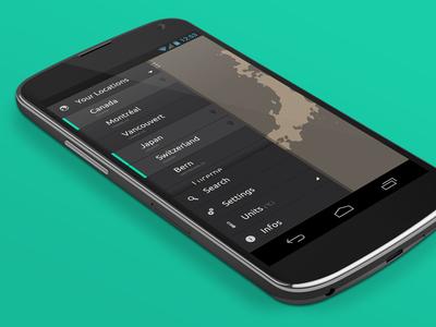 Nexus4 Wmap — Drawer app demo