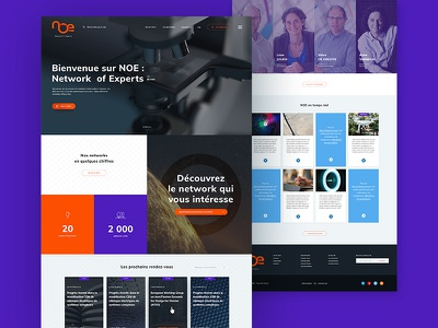 NOE Network — Homepage landing page cnes webdesign layout grid ux ui space tech
