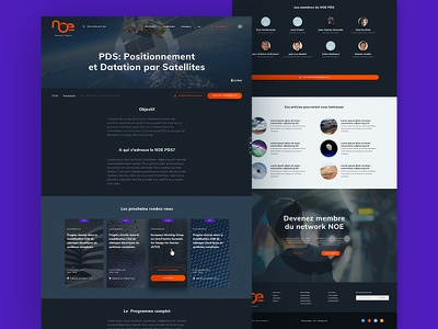 NOE Network — Project page colorz typography article project webdesign ux ui tech space layout grid cnes