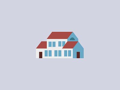 Bienvenue à Providence — Illustration Detail minimal house illustration