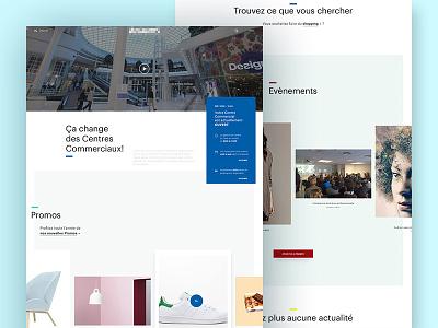 Mall website sliders typography minimal webdesign grid ecommerce mall