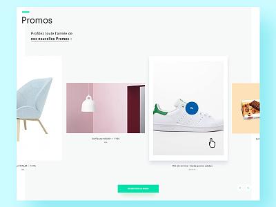 Mall website — Detail2 minimal typography filter rollover webdesign mall slider